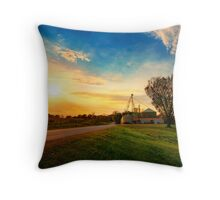 Amber Rays of Grain Throw Pillow