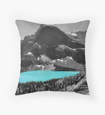 Grinnell Lake - Glacier National Park Throw Pillow
