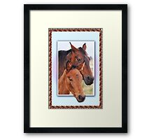 Mare and her Foal  Framed Print