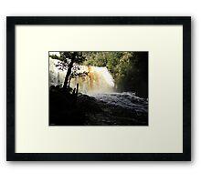 Dip Falls in Flood Framed Print