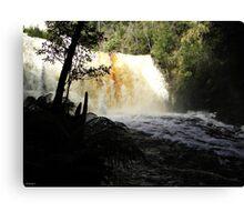 Dip Falls in Flood Canvas Print