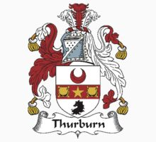 Coat of arms (family crest) for last-name or surname Thurburn or Thorburn . Heraldry banner for your name. Kids Clothes