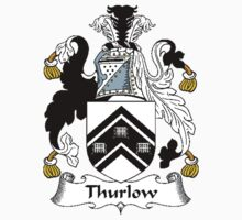Coat of arms (family crest) for last-name or surname Thurlow (e) . Heraldry banner for your name. Kids Clothes