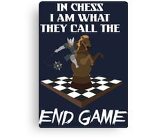 Chess End Game Canvas Print