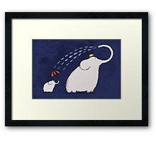 Little Umbrella Elephant Framed Print