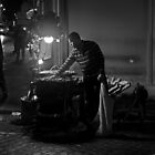 Roasting chestnuts near the Spanish Steps by Chris Allen