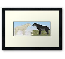 Seasonal Sabertooth Framed Print
