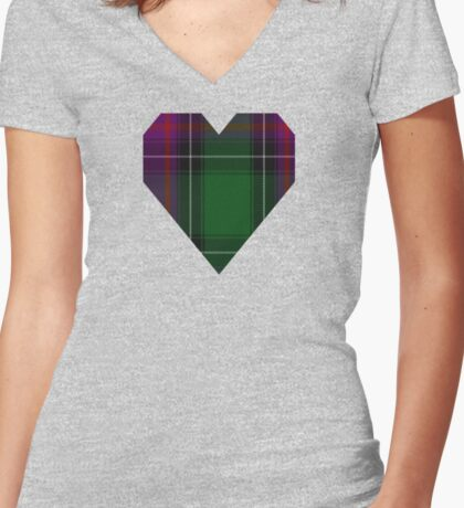 00150 New Hampshire District Tartan  Women's Fitted V-Neck T-Shirt