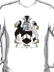 Coat of arms (family crest) for last-name or surname Tibbs . Heraldry banner for your name. T-Shirt