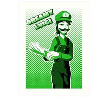 Dreamy Luigi Art Print