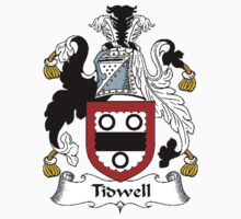 Coat of arms (family crest) for last-name or surname Tidwell or Todwell . Heraldry banner for your name. Kids Clothes