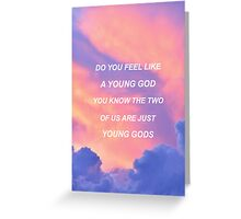 Young God Halsey Lyrics Greeting Card