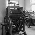 Printer's Guillotine by Brett Rogers