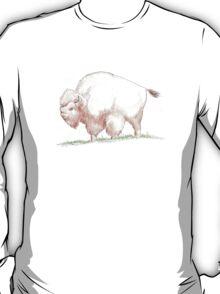 brown buffalo, friendly and cute T-Shirt