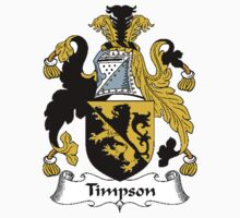 Coat of arms (family crest) for last-name or surname Timpson . Heraldry banner for your name. Kids Clothes