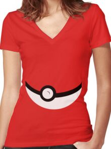 Catch 'em All Women's Fitted V-Neck T-Shirt