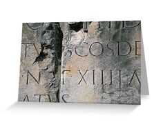 Roman Letters Greeting Card