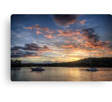 Sunset Blessings - Newport, Sydney - The HDR Experience Canvas Print