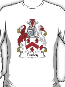 Coat of arms (family crest) for last-name or surname Tinsley . Heraldry banner for your name. T-Shirt