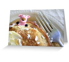 Pig In A Blanket Greeting Card