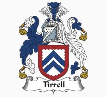 Coat of arms (family crest) for last-name or surname Tirrell or Tyrell . Heraldry banner for your name. Kids Clothes