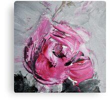 Red Rose from Roses in black vase Metal Print