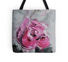 Red Rose from Roses in black vase Tote Bag