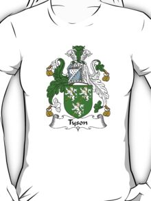 Coat of arms (family crest) for last-name or surname Tison or Tyson . Heraldry banner for your name. T-Shirt