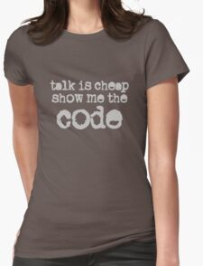 Show Me the Code Womens Fitted T-Shirt