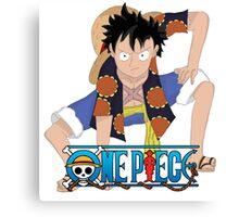 Luffy One Piece Second Gear Dressrosa Canvas Print