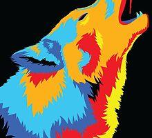 Popart Wolf  by LankySandwich
