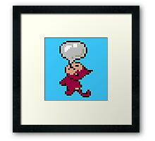 EarthBound -- Bubble Monkey Framed Print