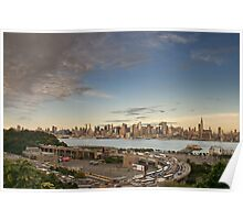 New York City Skyline over hudson river, NYC. Poster