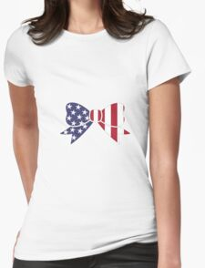 USA Bow Womens Fitted T-Shirt
