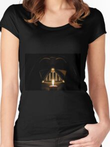 Light a candle for the dark side Women's Fitted Scoop T-Shirt