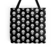 Grey Glitter Aliens Tote Bag