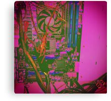 Neon Compute Pink Canvas Print