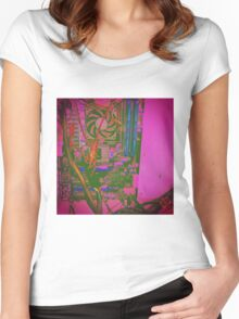 Neon Compute Pink Women's Fitted Scoop T-Shirt