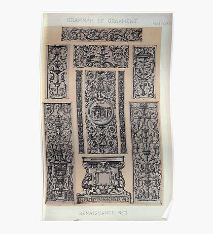 The Grammar of Ornament Owen Jones Francis Bedford Joh Burley Waring John Obadiah Westwood 1856 0251 Renaissance Poster