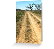 Up the Track Greeting Card