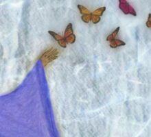 Butterfly Waterfall Sticker