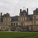 Chateau de Fontainebleau main entrance stairs by BronReid