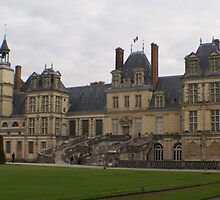Chateau de Fontainebleau main entrance stairs by BronReid