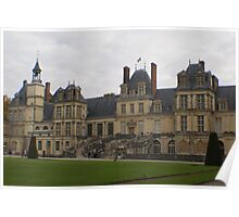 Chateau de Fontainebleau main entrance stairs Poster