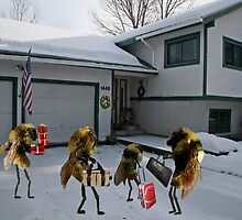 "A tribute to that classic holiday song, ""All Bees Home for Christmas"" by Susan Littlefield"