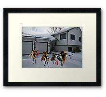 """A tribute to that classic holiday song, """"All Bees Home for Christmas"""" Framed Print"""