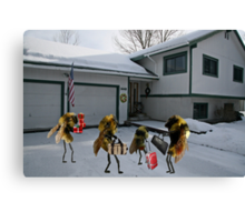 """A tribute to that classic holiday song, """"All Bees Home for Christmas"""" Canvas Print"""