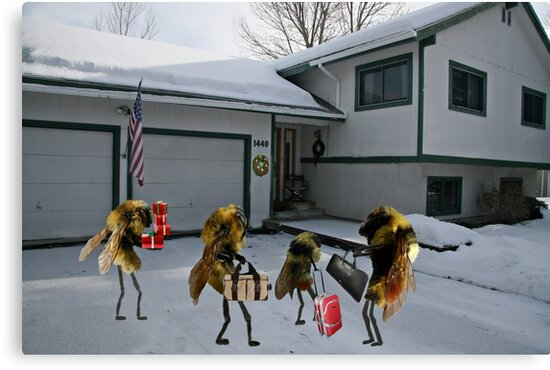 """A tribute to that classic holiday song, """"All Bees Home for Christmas"""" by Susan Littlefield"""