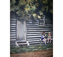 Chit Chit  friendship between girls in spring Photographic Print