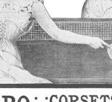 Ping-pong played in corsets, 1902 Sticker